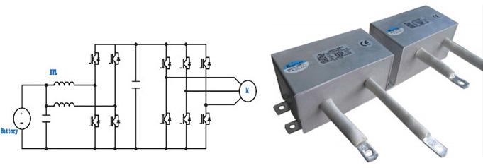 应用电路: 燃料电池汽车,混合动力汽车,纯电动汽车主动力dc-dc斩波